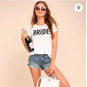 Bride To Be white tee